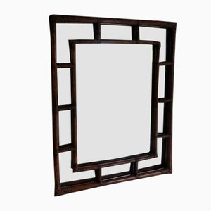 Large French Bamboo Mirror, 1970