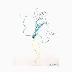 Litografía original, 1954, Pablo Picasso, The Ballet Dancer