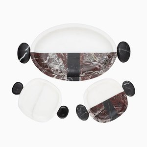 Small Marble Plates and Tray by Matteo Cibic, Set of 3