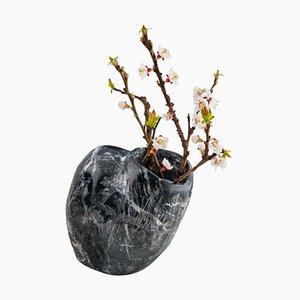 Black Fossil Vase by Verteramo