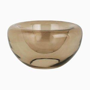 Braune Schale aus Opalglas von Kristina Dam Studio