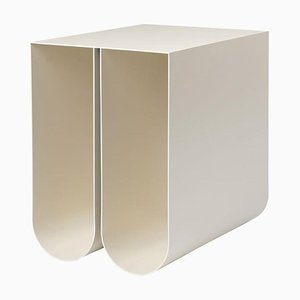 Beige Curved Side Table by Kristina Dam Studio