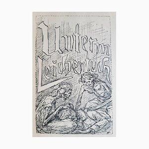 Alfred Leopold Isidor Kubin, Unterm Leichentuch, Seltenes Buch Illustriert, 1927