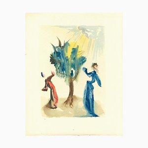 Salvador Dalí, the Tree of Punishment, Original Woodcut, 1963
