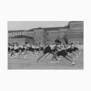 Unknown, Balilla Boys Training During Fascism, Vintage Black & White Photo, 1934