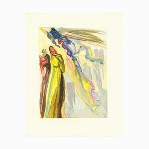 Salvador Dalí, The Two Circles of Spirits, Original Woodcut, 1963