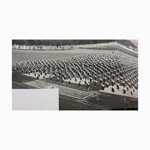 Exercices de Sport Inconnu, Femelle Pendant Le Fascisme en Italie, Photographie Vintage Noir et Blanc, 1934ca.