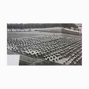 Exercices de Sport Inconnu, Féminin, Pendant Le Fascisme en Italie, Photographie Vintage N & B, 1934