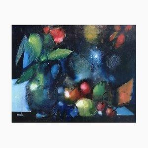 Jordi Bonàs, Nature Morte aux Roses et Fruits, 1982