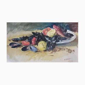 Clemente Tafuri, Nature Morte Aux Moules, 1953