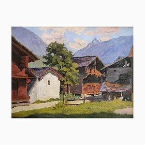 Edmond Bornand, Mazots à Zermatt, 1926