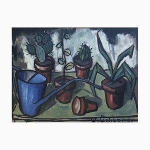 William Goliasch, Nature Morte à l'Arrosoir et aux Cactus, 1960