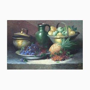Georges Duval, Nature Morte aux Fruits et Pichet Vert, 1962