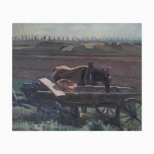 Numa Donzé, Paysage avec Cheval de Trait, 1934