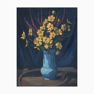 Marius Chambaz, Bouquet aux Fleurs Jaunes, 1963