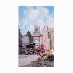 Oscar Ricciardi, Place de Naples Animée, 1921