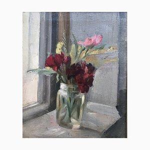 Louis Henri Salzmann, Bouquet de fleurs au bord de la fenêtre, 1915