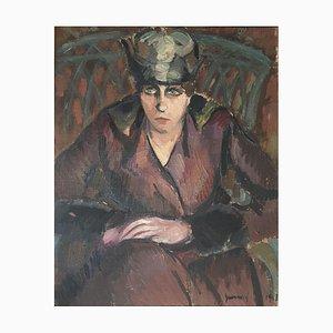 René Guinand, Portrait de Femme aux Mains Croisées, 1918