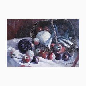 Joseph Vanmaekelberghe, Nature Morte avec Panier de Fruits et légumes, 1931