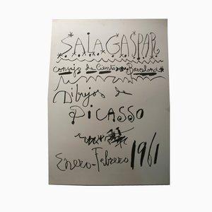 Póster Barcelona con escrito de Picasso, 1961