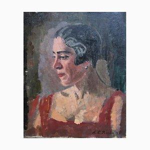 Portrait de Jeune Femme, Alexis Louis Roche, Coiffure des Années 20, 1929