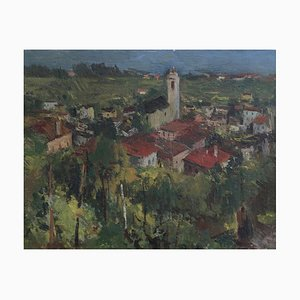 Herbert Theurillat, Vue des hauteurs d'un village, 1943