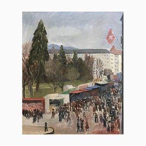 Eugène Louis Martin, Jour de l'an 1937, fête au Jardin Anglais, Genève