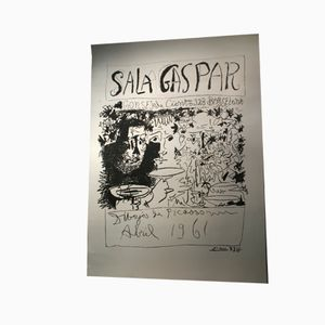 Large Barcelona Poster with Picasso's drawings, 1961