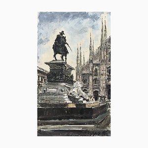 Marco Crippa, Piazza Duomo, Monumento a Vittorio Emanuele, 1977