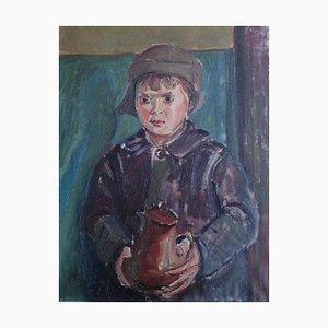 Janebé Weber, Portrait d'Enfant Portant une Carafe, 1994