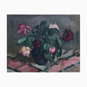 Charles Emile Brunner, Bouquet de pivoines, 1938