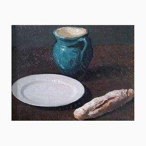 Carlo Varese, Nature morte au pain, pichet et assiette, 1930