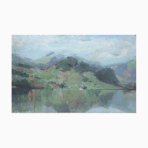 Emile Vouga, Paysage Lacustre, 1904