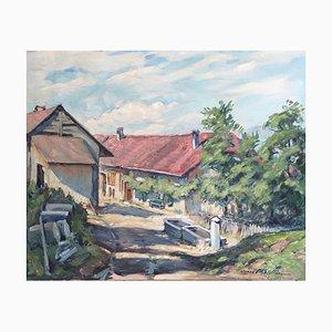 Henri Châtillon, La Fontaine, Cheseaux, 1970