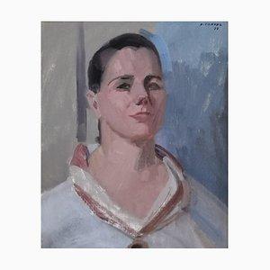 Retrato de mujer de Albert Chavaz, 1977