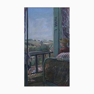 Constantin Terechkovitch, Jeune femme et enfant à la fenêtre, 1934