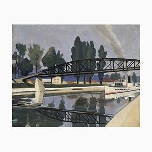 Gabriel Edouard Haberjahn, La Thièle, Yverdon, 1923