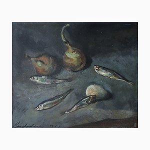 Constantin Terechkovitch, Nature Morte aux Sardines, 1955