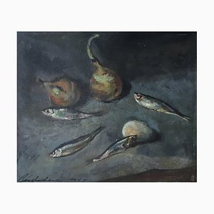 Constantin Terechovitch, Nature Morte aux Sardines, 1955