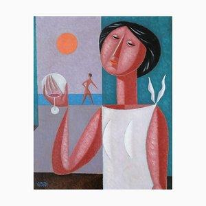 Pardi Young, Femme au verre, 1966