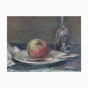 Fernand Blondin, Nature morte à la pomme et carafe, 1956