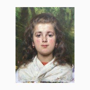 Fille de Portrait de Jeune, Anna Bosshard, 1906