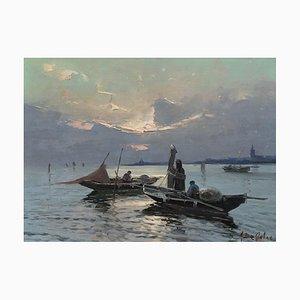 Gennaro De Felice, Pêcheurs dans la lagune de Venise, 1942
