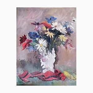 Benjamin II Vautier, Nature morte et parchemin rouge, 1926