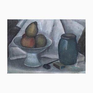 Alexandre Rochat, Nature morte à la pipe et aux fruits, 1962