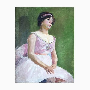 Charles De Ziegler, La danseuse au tutu rose, 1913
