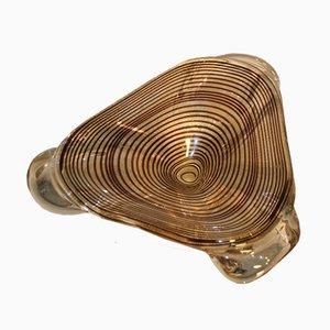 Zebra Patterned Murano Glass Bowl by Erole Barovier, 1960s