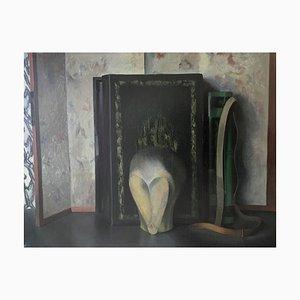 Sculpture Raoul Bovy-Lysberg, boîte et sacoche, 1943