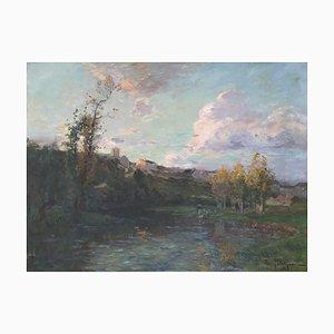 Edmond Marie Petitjean, Lavandières à la rivière, 1908