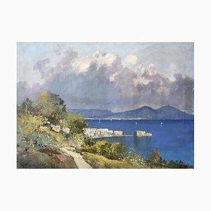 Ugo Maresca, Baie de Naples et vue sur le Vésuve, 1971